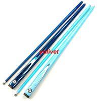 carbone professionnel 1/2 Articulé Billard Cues bâton 9.5mm 2color billard bleu queue de billard bâton cue 57inch