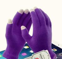Magic Touch Luvas de tela de malha Texting estiramento adultos Um tamanho de um dedo inverno mais quente completa Luvas Touchscreen Presentes Xmas frete grátis
