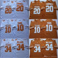34 Ricky Williams Texas Longhorns 10 Vince Young 20 Earl Campbell NCAA College Football Jerseys Doppio nome e numero