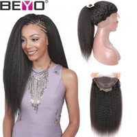 Full Lace Human Hair Wigs Brazilian Kinky Straight Hair Wig ...