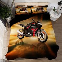 New Arriving 3D Printed Motorbike Bedding Suit Quilt Cover 3...