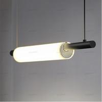 Nordic LED Eisen-Kunst-Wasser-Rohr-Pendelleuchten Beleuchtung Postmodern Loft Wohnzimmer Meal Bar Lampen-Schlafzimmer-Bar Deco Leuchten LLFA
