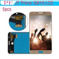 Samsung Galaxy J7 Başbakan G610 Için 5 adet lcd LCD Ekran Digitizer Dokunmatik Ekran Meclisi ile G610F G610K G610L G610S G610Y