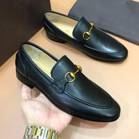 20ss della moda di New Men Casual Shoes lussuoso del cuoio genuino più bassi Slip-on Men Mocassini Mens di alta qualità vestito da svago Shoes