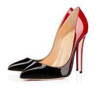 Женщины Новая Мода Красная Нижняя Стелето Высокие каблуки Платье Обувь Вечеринка Одиночные Офисы Офис Насосы Super High Cable Stiletto Насосы Большой Размер ЕС от 34 до 45