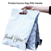 50pcs Printed Tote Bag Express-Tasche mit Griff Courier Selbst Seal Adhesive dicken wasserdichtem Kunststoff Poly-Umschlag-Mailing