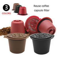 3pcs / pacote de filtros de café Nespresso Capsule recarregáveis reutilizável café Pods Plástico Para Linha Original Nespresso máquina Coffeeware