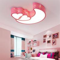 LED Tavan Lambası Oturma Odası Aydınlatma Yatak Odası Karartma Sıcak Kalp Şekli Basit Kişilik Yaratıcı Akrilik Ay Ferforje Lamba AL40