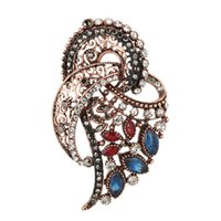 Swan Brooch Blue Stone Bird Baroque Brooches Men Women Suits...