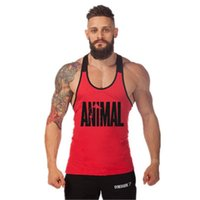 887b13b0553c New Arrival. New Printed Animal Letter Gyms 2018 Mens Tank Tops Sleeveless  Tanktops Bodybuilding Fitness Men s Gyms Singlets Workout Clothes ...