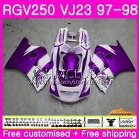Carrosserie Pour SUZUKI SAPC RGV-250 VJ22 VJ21 RGV 250 97 98 99 Cadre 19HM.143 RVG250 VJ23 RGV250 VJ 21 22 23 1997 1998 1999 Carénage New Hot violet