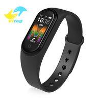 Vitog M5 relógio inteligente Mulheres homem Bluetooth inteligente Banda Waterproof Pressão Ritmo Cardíaco Sangue Saúde Masculina Pulseira Pulseira inteligente