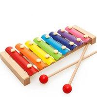 almôndegas de madeira mão de madeira batendo octave piano infantil educação infantil quebra-cabeça música infantil iluminação brinquedos Atacado