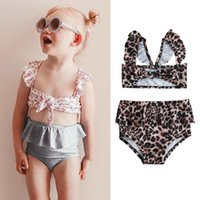 73667a2a8d05c New Arrival. Summer Toddler Baby Girls Bikini Set Split Two Pieces High  Waist Swimwear Leopard Floral Printed Swimsuit New Bathing Suit ...