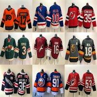 New York Rangers Jersey 10 J.T. Miller 36 Mats Zuccarello New York Islanders 91 John Tavares 53 Jeff Skinner Hockey Jersey ricamati