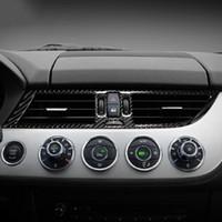 Per BMW Z4 E89 in fibra di carbonio 2009-2015 adesivi arcata Car Interior condizionatore d'aria centrale bocchetta e la decalcomania styling auto