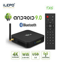 Android 9.0 TV Box 4GB 32GB TX6 Allwinner H6 رباعية النواة WiFi BT5.0 3D 4K H.265 Media Player 2GB 16GB