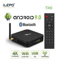 안드로이드 9.0 TV 박스 4GB 32GB TX6 Allwinner H6 쿼드 코어 WiFi BT5.0 미디어 플레이어 2GB 16GB