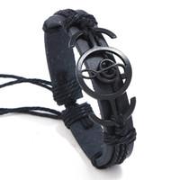 Les notes de musique à la main Bracelet en cuir tissé hommes Rock Style Bijoux Hiphop Street Dance Accessoires