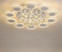 Led Chandelier Ceiling Lamps Modern LED Ceiling Light Living Room Dining Room Bedroom Lustre lampara Crystal Lighting Fixture LLFA