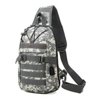 Men's Tactical Camouflage Bag Cycling Chest Bags Outdoor Sports Hiking Camping Shoulder Bags Portable Messenger Bag