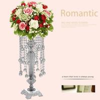 Акриловый Кристалл цветочный стенд свадебное украшение сцены свадебные украшения предметы интерьера 73 см высокий свадебный стол центральные детали