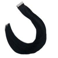 """الشريط في ملحقات الشعر 100٪ ريمي الشعر البشري 14 """"- 24"""" الهندية الطبيعية"""