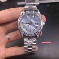 Orologi business a quattro angolo del diamante della vigilanza Diamond Bezel argento orologio in acciaio inossidabile Automatico Orologio meccanico degli uomini di alta qualità