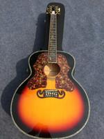 Großhandel delixe Vintage Sunburst Farbe 43 inchjumbo Akustikgitarre gratis