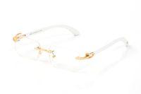 Neue Art und Weise Sport-Sonnenbrille optische Gläser populärer Art randlos Metallrahmen Gold-Silber-Holzrahmen Avantgarde-Stil für Männer Brillen