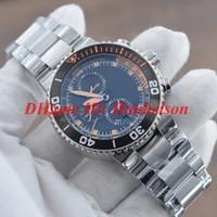 Nuevo reloj deportivo para hombre 01 774 7708 4154-Set VK Japón movimiento de cuarzo Cronómetro Calendario negro Correa de acero inoxidable Reloj de caballero