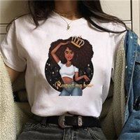 Shirt estiva da donna allentate ragazze della stampa T-Shirt Plus Size camicetta girocollo manica corta tunica Tops Size (S-3XL))