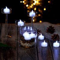 LED-Leuchten wasserdichte Tee-Beleuchtung Weiß Submersible Lache-Lampe Unterwasser-Tauch Teelichter Teich Angeln Feiern Flameless