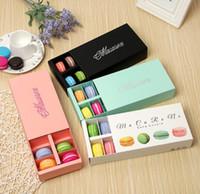 Coloré Macaron boîte détient 12 cavité 20*11 * 5 cm Emballage Alimentaire Cadeaux Papier partie Boîtes Pour boulangerie gâteau collation bonbons Biscuit Muffin boîte
