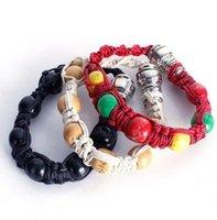 Bracciale tubo di fumo Bracciale portatile branello del metallo Pipe mano Wristband Tubi uomini / donne fredde regalo nodo della corda GGA3345-7