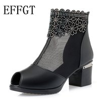 EFFGT Fashion Sandals Mesh Shoes Woman High Heel Sandals 201...