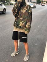 Moda-Negro Fog Street Shorts esenciales Hip Hop Marca Moda Ropa de diseñador para hombre Ropa de hombre Negro Gris Sweat Shorts de harén