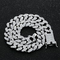 20mm 16- 24inch Iced Out Heavy Miami Cuban Link Chain Necklac...