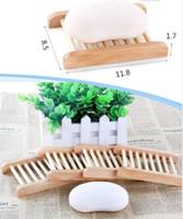 Ev Ahşap Doğal Bambu Sabun Yemekler Tepsi Tutucu Depolama Raf Plaka Kutusu Konteyner Banyo Sabun Koruyucu Dikdörtgen Lavabo Süzgeç El Zanaat