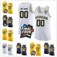 Özel NCAA Michigan Wolverines 3 Zavier Simpson 4 Isaiah Kentleri 13 Moritz Wagner 15 Jon Teske Dikişli Final Dört Koleji Basketbol Forması