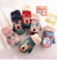 Christmas Kids Mitten Gloves Cartoon Cute Baby Mittens for C...