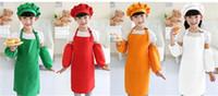 Kinder Schürzen Taschen Craft Kochen Backen Kunst Malerei Kinder Küche Essen Lätzchen Kinder Schürzen Kinderschürzen 10 Farben geben Verschiffen DHL FEDEX