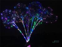 الصمام اللمعان بالونات ليلة الإضاءة بوبو الكرة متعدد الألوان الديكور بالون الزفاف الديكور مشرق أخف بالونات مع عصا الساخنة