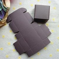 5.5 * 5.5 * 2.5cm mini mano nera decorazione dei monili fatti di sapone scatola di carta del pacchetto della torta piccolo regalo contenitore di pacchetto