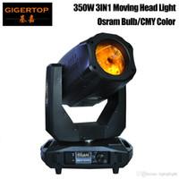 CMY + CTO Renk Cam 3pin / 5pin DMX Socket ile Baş Işık High Power Beam'e / Gobo / Yıkama Etkisi Hareketli Gigertop Yeni Tasarım 350W 3IN1 CYM