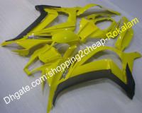 För Kawasaki ZX10R 11 12 13 14 15 ZX 10R ZX-10R 2011 2012 2013 2014 2015 Populär gul ryggare (formsprutning)