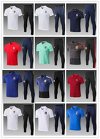 WM Nationalmannschaft Polo Shirt lange Hosen 2018 Fr MBAPP Spanien Fußball Trainingsanzug Argentinien MESSI RONALDO Chandal Futbol Jogging Trainingsanzug