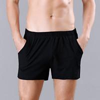 Casual Uomo Intimo Cotton I pugili Shorts Solid Pocket media altezza Pouch Mutande uomo di Arrow pantaloni intimo maschile M-XXL