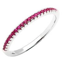 Solide 925 Sterling Silber Band Ring für Frauen Rhodiniert Zirkonia CZ Hochzeit Schmuck 3 Farben erhältlich R151A