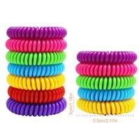 안티 모기 구충제 팔찌 실리콘 팔찌 여러 가지 빛깔의 해충 방제 팔찌 곤충 보호 캠핑 야외 해충 도구 GGA3482-3